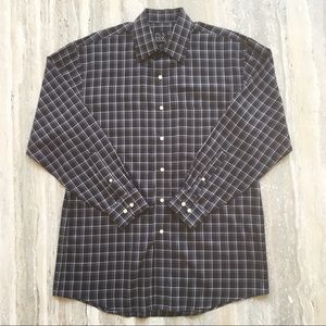 Jos A Banks Travelers Collection Plaid Shirt